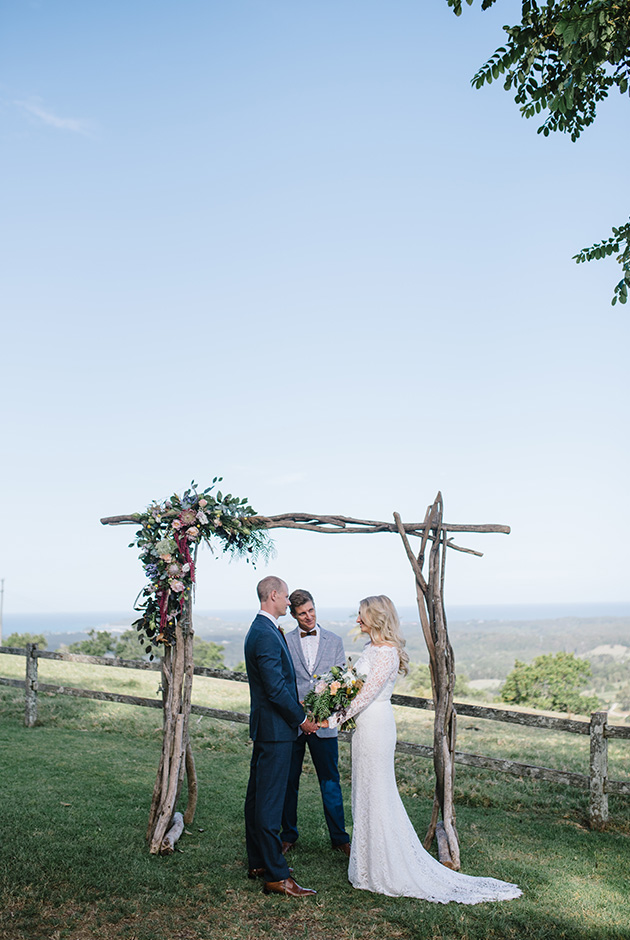 Byron View Farm Wedding - Hitched In Paradise Elopement - Jess & Craig