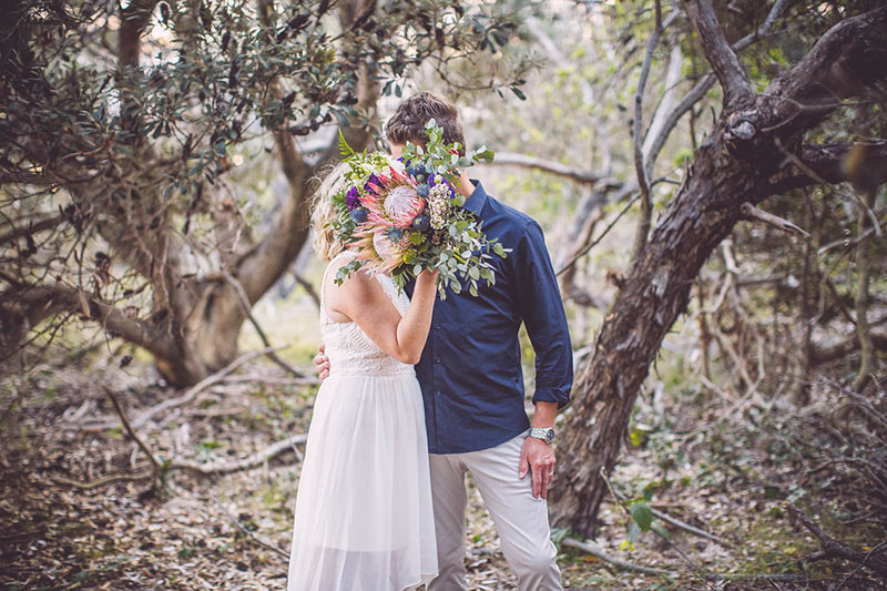 Tallow Beach - Wedding Bouquet - Byron Bay Elopement