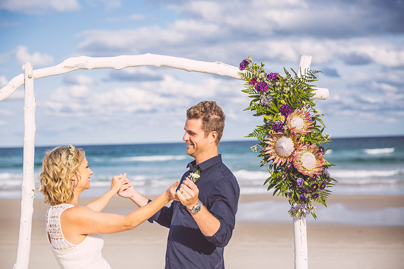 Tallows Beach Elopement - Byron Bay - Justin & Sam
