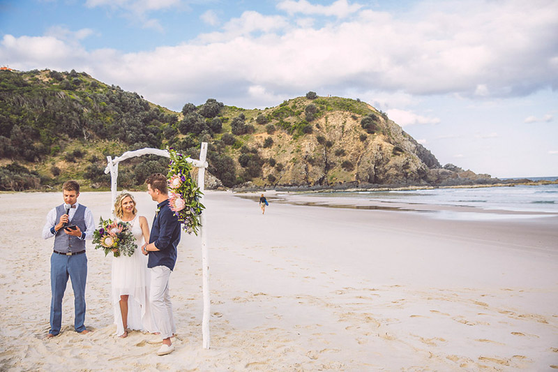 Byron Bay Elopement - Tallow Beach - Sam & Justin