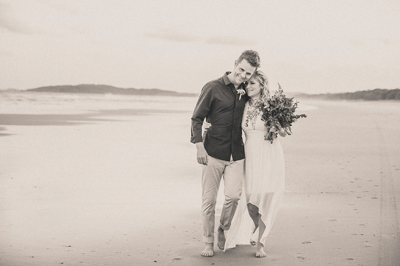 Tallow Beach - Run to Paradise - Byron Bay Elopement