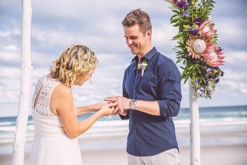 Hitched In Paradise - Byron Bay Elopement - Tallow Beach