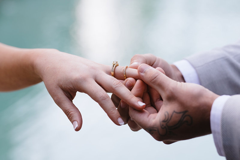 Santai Retreat Wedding - Rings - Hitched In Paradise