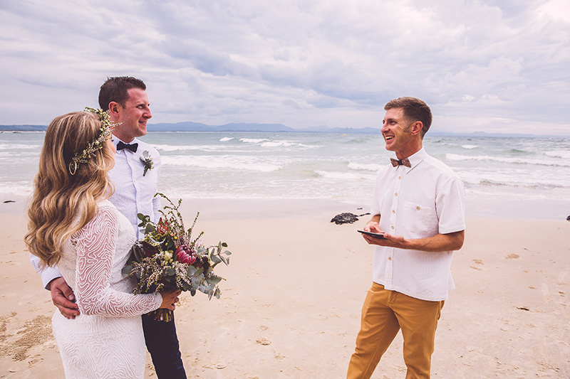 Wategos Beach Wedding - Byron Bay Elopement - Hitched in Paradise