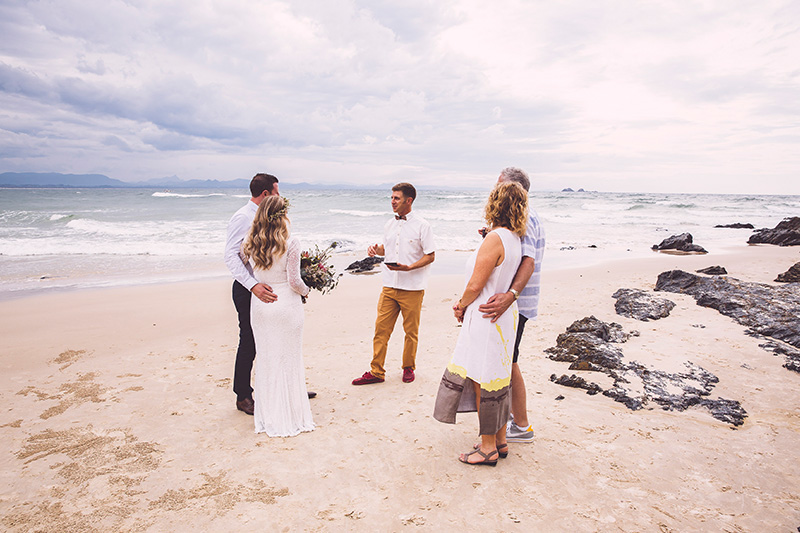 Wategos Beach Wedding - Benjamin Carlyle Celebrant - Hitched in Paradise