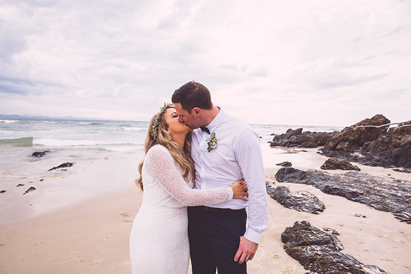 Byron Bay Elopement - Hitched in Paradise - Wategos Beach