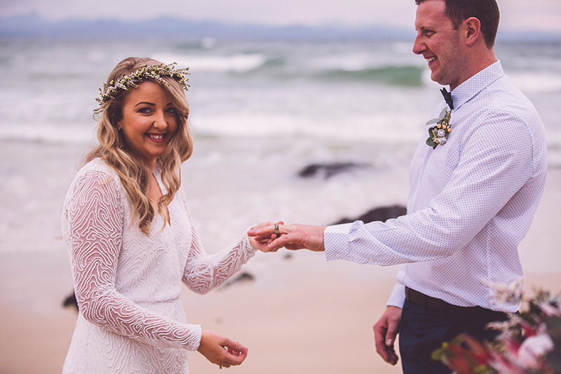 Byron Bay Elopement - Hitched in Paradise - Wedding rings