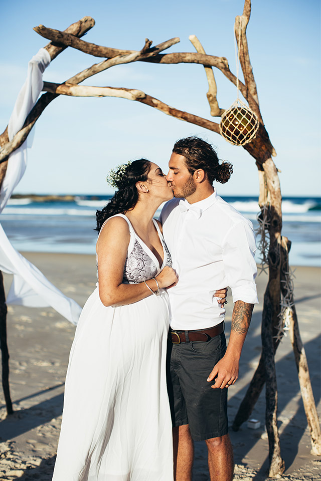 Byron Bay Elopement - Hitched In Paradise - Tallows Beach