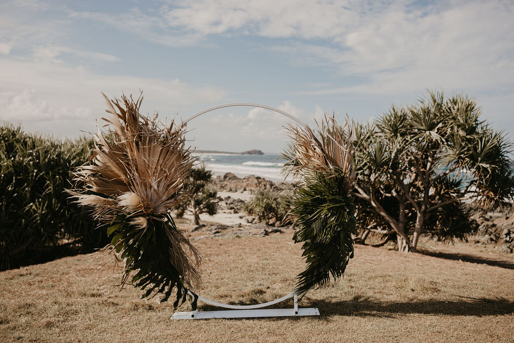 Hastings Point Elopement - Tweed Coast Wedding Arch