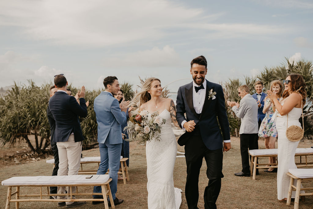 Hastings Point Wedding - Byron Bay Elopement - Just Married