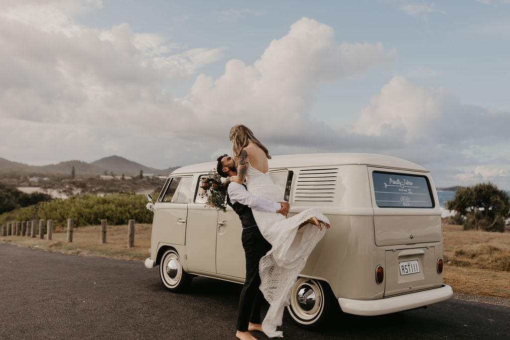 Priscilla & Valerio - Hastings Point - Byron Bay Elopement Kombi