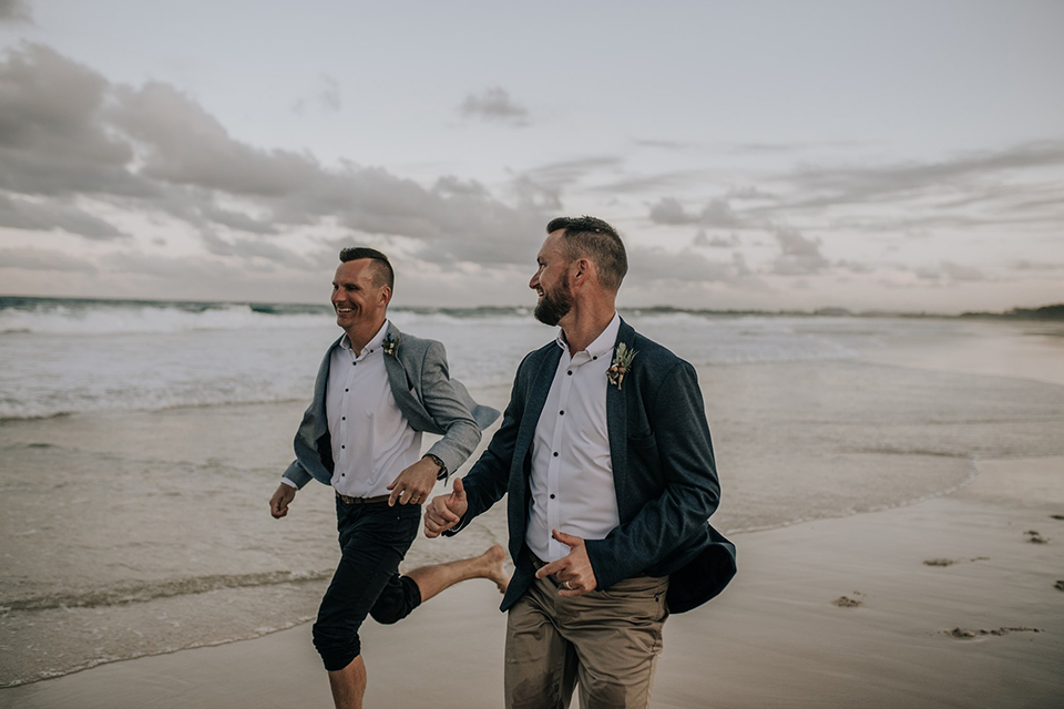 Hitched in Paradise - Fingal Beach - Gay Elopement