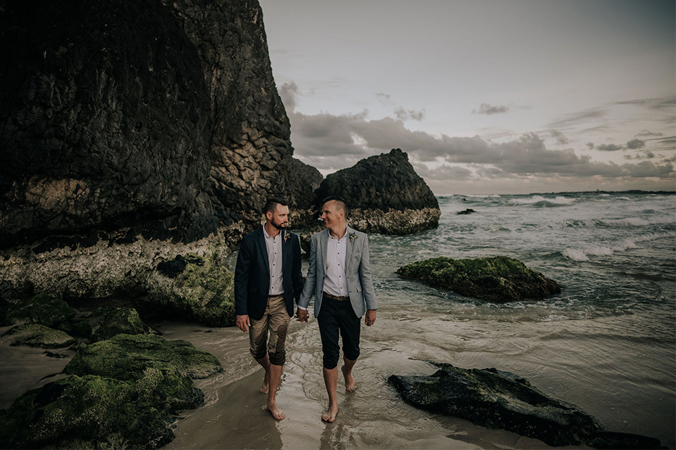 Hitched in Paradise - Dreamtime Beach - Gay Elopement