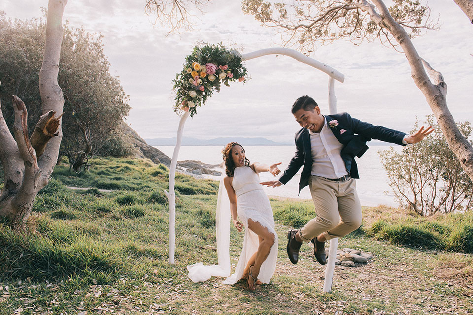 Little Wategos Elopement - Claudia & Jayson - Byron Bay