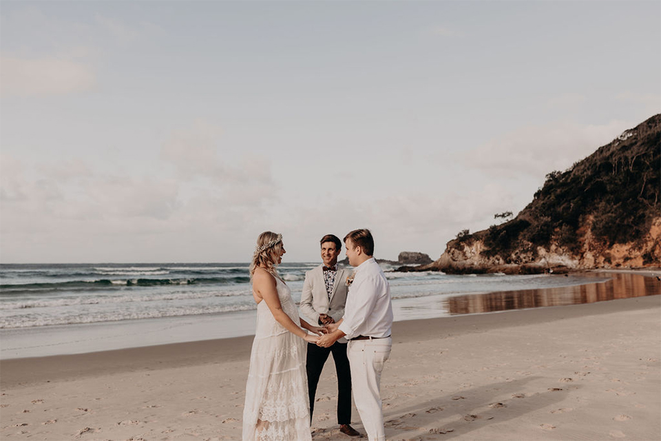 Broken Head Elopement - Megan & Taj - Byron Bay Beach Wedding